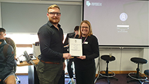 University Award for Apprentice Todd
